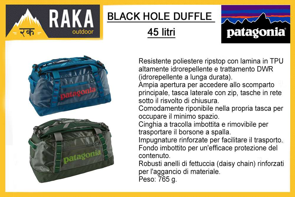 PATAGONIA BLACK HOLE DUFFLE 45 litri