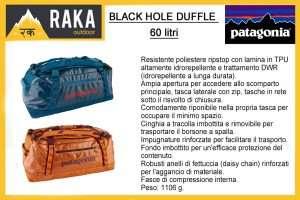 PATAGONIA BLACK HOLE DUFFLE 60 litri