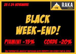 BLACK WEEKEND, 23 e 24/11/2018