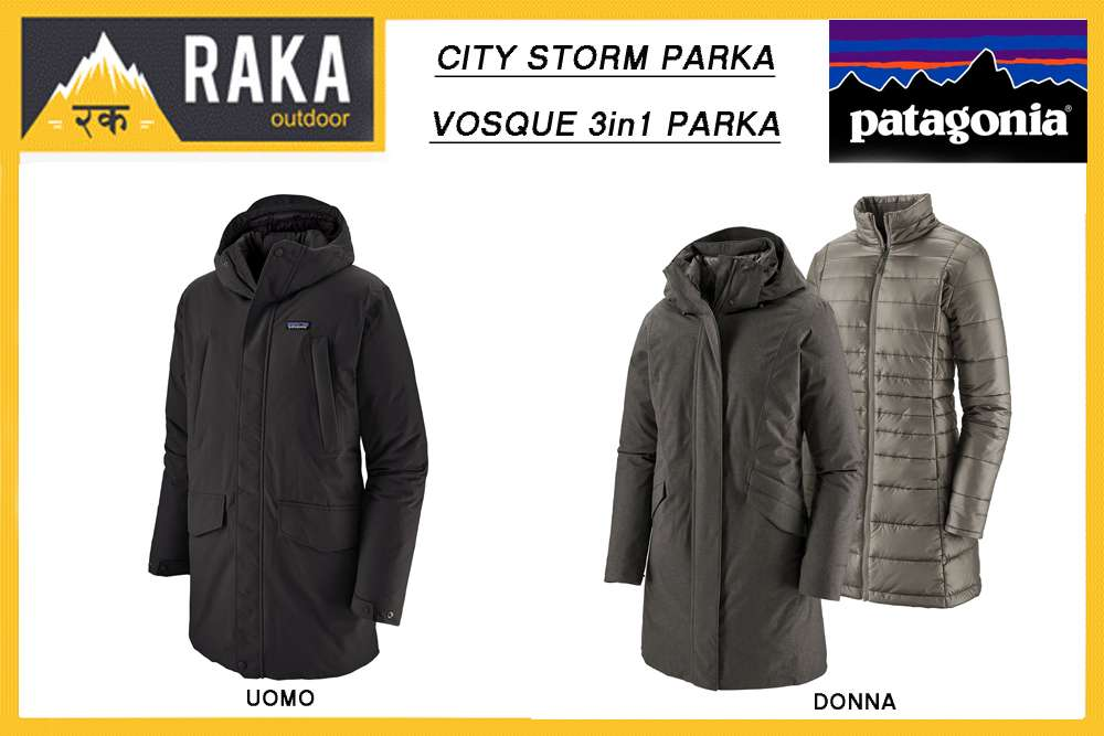PATAGONIA CITY STORM e VOSQUE 3in1 PARKA